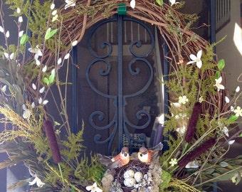 Birds with Nest Wreath