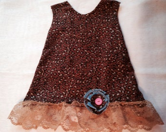 Cheetah Print Dress with Ruffle and Flower