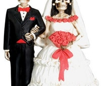 Day of The Dead Love Never Dies Wedding Cake Topper