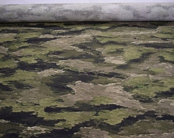 """A-TACS-IX Nylon/Cotton Ripstop Camouflage Fabric 55"""" Wide By The Yard 36"""" Long"""