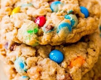 Oatmeal M&M Cookies - 1 dozen