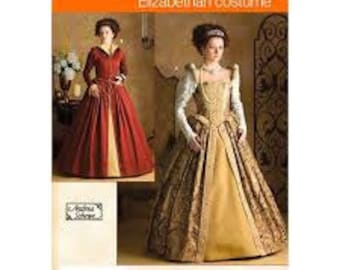 NEW UNCUT Simplicity 3782 Elizabethan Court Dress Gown Pattern Size RR 14-16-18-20
