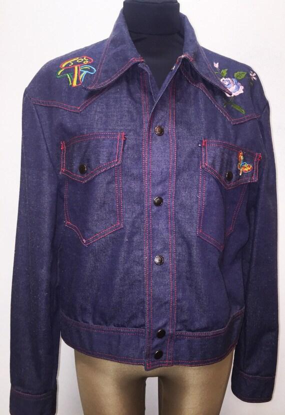 Vintage s embroidered denim jacket