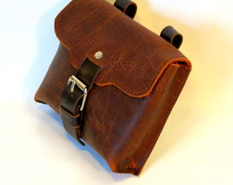 Leather belt bag, belt pouch, hip pouch, travellers pouch, bushcraft pouch, gift for him,