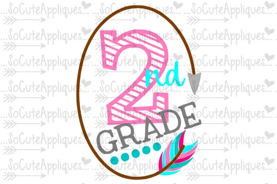 Svg Dxf Eps Cut File 2nd Grade Tribal Arrow Feather