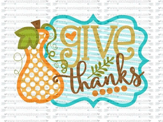 Svg Dxf Eps Cutting File Give Thanks Gourd Frame Svg
