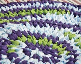 Hand Crochet, Rag Rug, Round 24x24