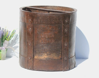 French Antique Grain Measure,  French Grain Barrel, Home Decor,Collectables