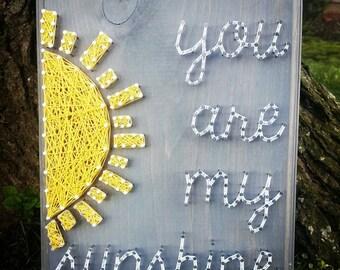 You Are My Sunshine String Art, sunshine, birthday gift, nursery decor
