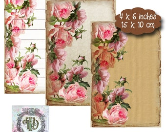 6 Rose Tags