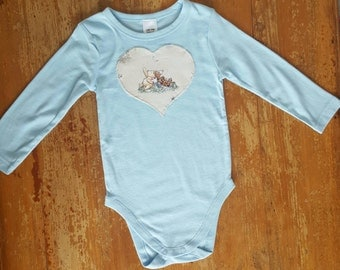Size 1 Long Sleeved Applique onsie