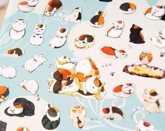 Cute Japanese Lucky Cat Stickers 1 Sheet