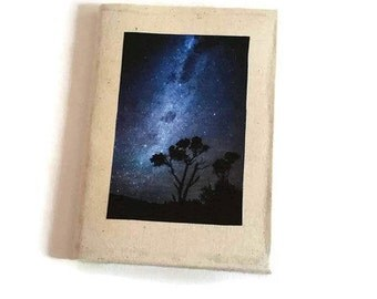 Milky Way Notebook Journal - Galaxy Paper Journals - Star Galaxy - Writing Journal - Notebook Diary - Black Paper Journal - Milky Way Print