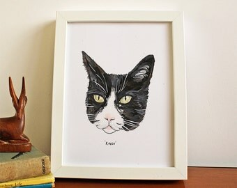 Hand Painted Personalised Cat Portrait