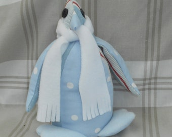 Animal doorstop-Penguin doorstop-Fabric doorstop-Blue penguin-Home decor-Unique gift