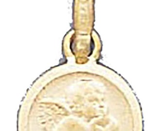 Angel  Charm Pendant 14k Solid Yellow Gold Pendant