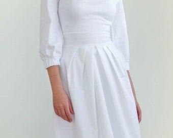 White cotton dress | Etsy