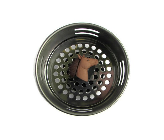 Sink strainer horse decor equestrian decor western decor - Decorative kitchen sink strainers ...