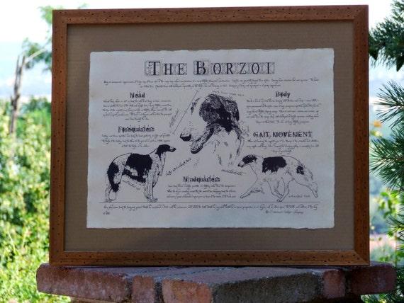 Antique styled dog standard - Borzoi