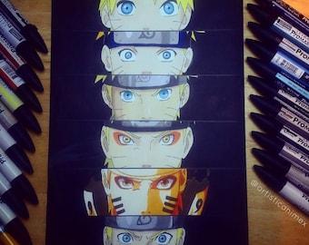 """Anime Eyes: Naruto - Naruto 8x12"""" Print"""