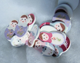 Wooden Russian Doll Buttons