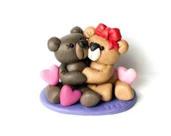 Teddy Bear Love, Clay Animals with Hearts