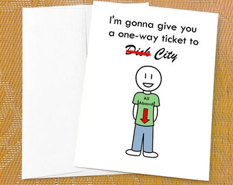 funny valentines day card for girlfriend ticket to dick city funny love card funny valentine