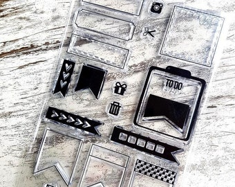 """Clear stamps """"planning"""""""
