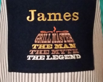 Personalized Grilling Apron, BBQ apron, Mens gift