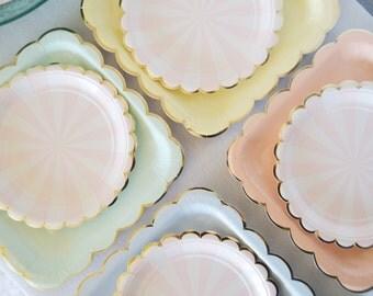 Light Pink Paper plates