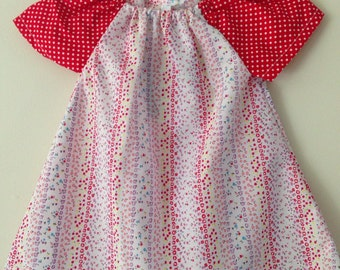 Baby peasant dress, size 3-6 months