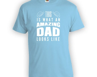 Amazing Dad - Father Day Shirt, Dad Shirt, Gifts for Him Gift for Step Dad, Step Father Gift Idea, Gift from Wife, Shirt, CT-386