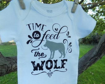 Time to feed the Wolf Cute Baby onesie or tee