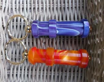 NEW limited Colour - WPI gauge keyring (wraps per inch) Orange and Purple acrylic