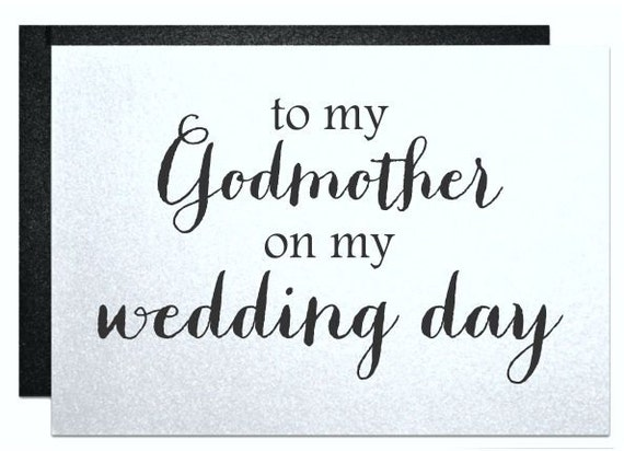 Godmother Wedding Card To My Godmother On My Wedding Day Will