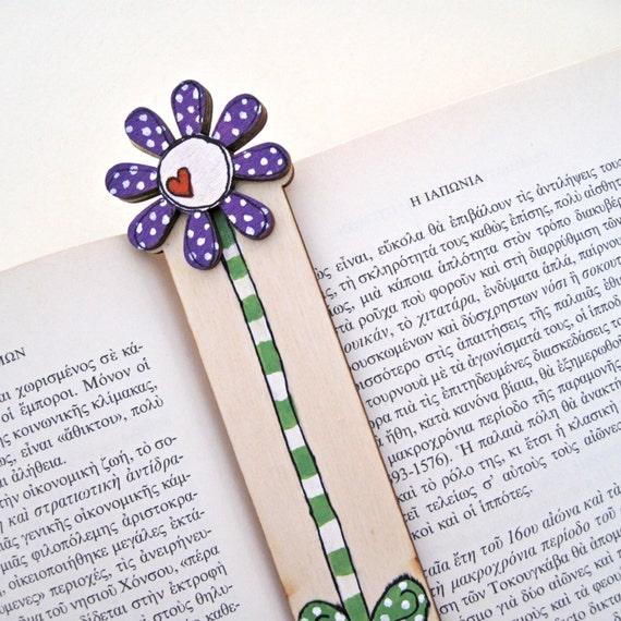 Bookmark, handmade bookmark, purple flower, Book lovers gift, Teachers Gift, Book Accessories, personalized bookmarks,, birthday girl gift