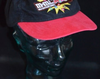 Retro Black and Red M&Ms Minis Snapback Baseball Cap Hat (One Size Fits All)