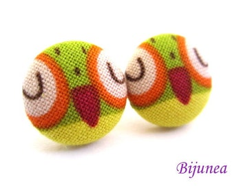 Owl earrings - Brown owl earrings - Owl studs - Owl stud earrings - Owl posts - Owl post earrings sf1124