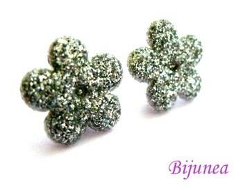 Flower earrings studs - Purple Flower posts - Flower studs - Spring Flower earrings - Flower jewelry - Earrings cherry sf249