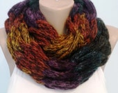 Scarf, Knit Scarf, Extra Chunky, Extra Bulky, Neck Warmer ,Colorful Scarf ,Cowl Circle Scarf Gift for her Gift for his