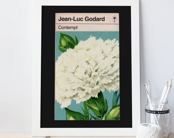 GODARD FILM POSTER -  Contempt Movie Poster, Jean-Luc Godard, Penguin Book Cover, Minimalist Movie Poster, Film Lover Art