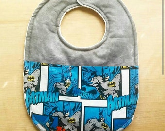 Batman Inspired Baby Bib