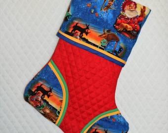 Santa Rodeo Handmade Custom Christmas Stocking