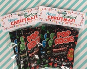 """Pop Rocks """"Have a Rockin' Christmas"""" Printable Treat Bag Toppers (Customized) -- Perfect for School Gifts or Favors"""