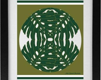 Mirrored Botanical Print