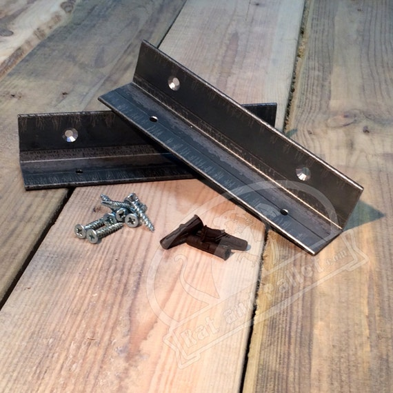 Metal Brackets For Wall Mounted Alcove Or Corner Shelf Mount