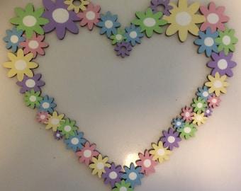 Flowered laser cut sign