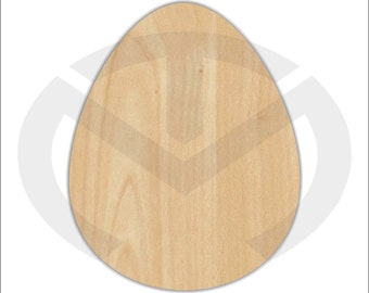 Unfinished Wood Easter Egg (larger) Laser Cutout, Wreath Accent, Door Hanger, Ready to Paint & Personalize, Various Sizes