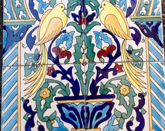 Nostalgy Hand Painted  Mural Decoration Tiles