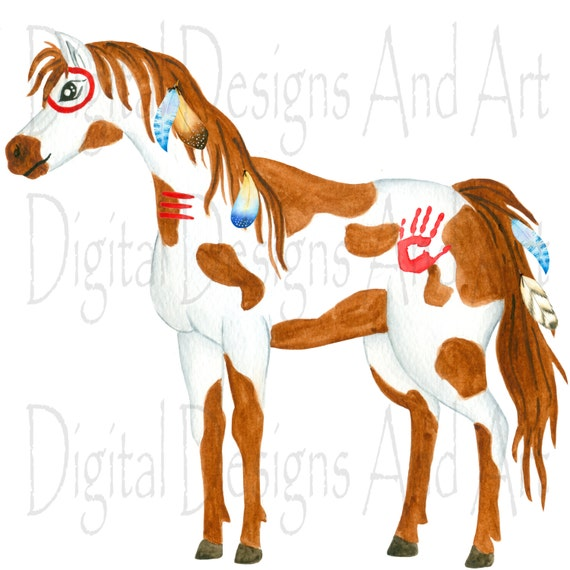 Native American Horse Clipart Feathers Clipart Native